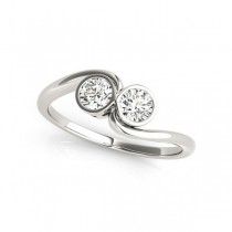 Overnight Mountings Two Stone Ring 84786-1