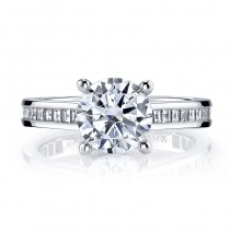 MARS R283 Carre Diamond Engagement Ring, 0.53 Ctw.