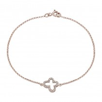 14k Rose Gold Pave Diamond Butterfly Bracelet
