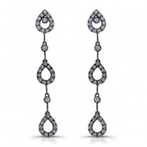 18k White Gold Diamond Drop Earrings NK12033-W