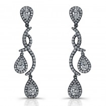 14k White Gold Pear Shaped Diamond Earrings NK14530-W