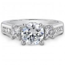 18k White Gold Open Gallery Diamond Semi Mount