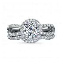 18k White Gold Micro Prong Diamond Bridal Set - NK18592WE-18W
