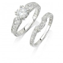 18k White Gold pear Shaped Diamond Bridal Set NK6950WE-W