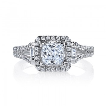 MARS 25003  Diamond Engagement Ring 0.35 Ct Rd, 0.07 Ct Bg.