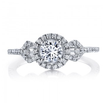 MARS 25011  Diamond Engagement Ring 0.27 Ctw.