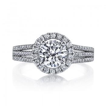 MARS 25128  Diamond Engagement Ring 0.54 Ctw.