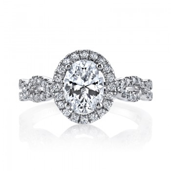 MARS 25366  Diamond Engagement Ring 0.48 Ctw.