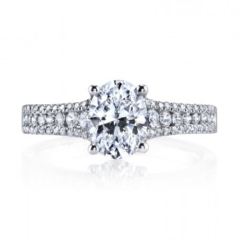 MARS 25478 Diamond Engagement Ring 0.42 Ctw.