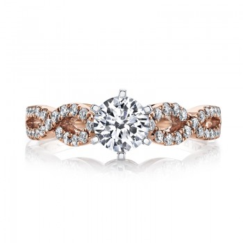 MARS 25840 Diamond Engagement Ring 0.24 Ctw.