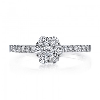 MARS 26159 Diamond Engagement Ring, 0.56 Ctw.