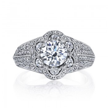 MARS 26175 Diamond Engagement Ring 0.87 Ctw.
