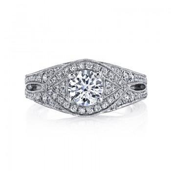 MARS 26208 Diamond Engagement Ring 0.95 Ctw.