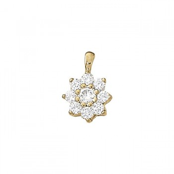 Pendant with Cluster Diamonds 30011-1