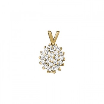 Pendant with Cluster Diamonds 30110-1/2