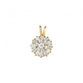 Pendant with Cluster Diamonds 30207