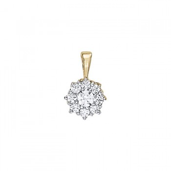 Pendant with Cluster Diamonds 31178