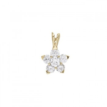 Pendant with Cluster Diamonds 31233