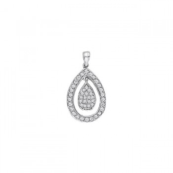 Pendant with Cluster Diamonds 31255