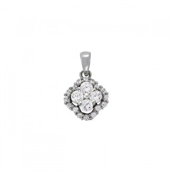 Pendant with Cluster Diamonds 31912