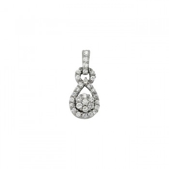 Pendant with Cluster Diamonds 32104