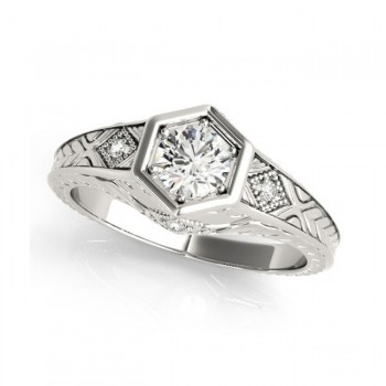 White Gold Engagement Ring 83377