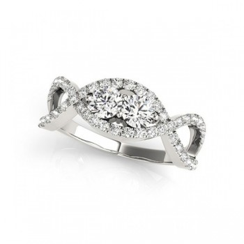 Overnight Mountings Two Stone Ring 84790-1