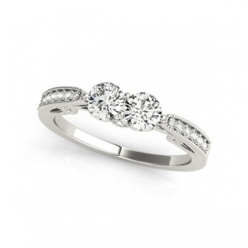 Overnight Mountings Two Stone Ring 84793-1