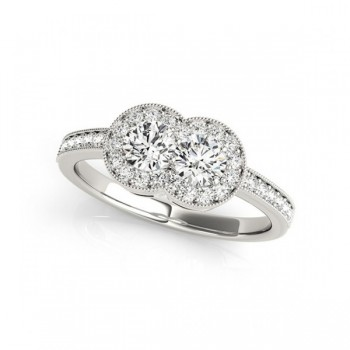 Overnight Mountings Two Stone Ring 84798-1