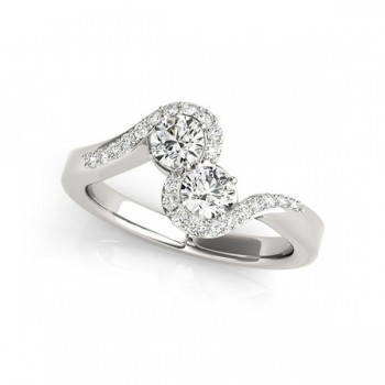 Overnight Mountings Two Stone Ring 84799-1