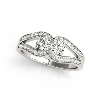 Overnight Mountings Two Stone Ring 84800-1