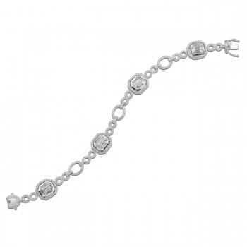 18k White Gold Mosaic Diamond Bracelet