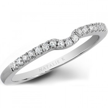 14k White Gold Diamond Wedding Band - NK19638WED-W