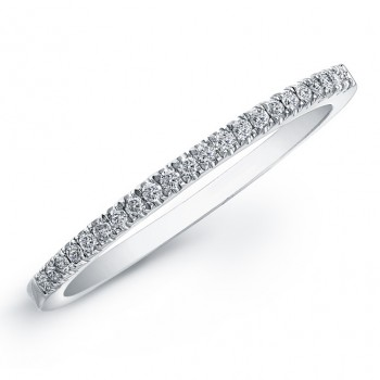 14k White Gold Petite Diamond Wedding Band