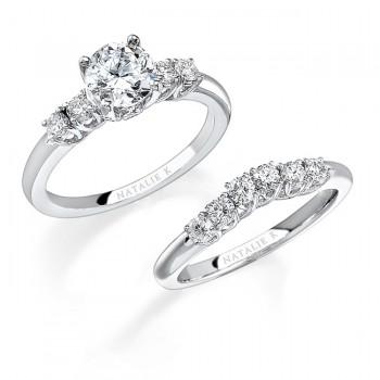 18k White Gold Classic Prong Diamond Bridal Set NK12202WE-W