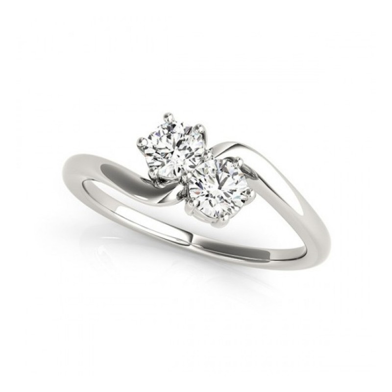 Overnight Mountings Two Stone Ring 84782-1