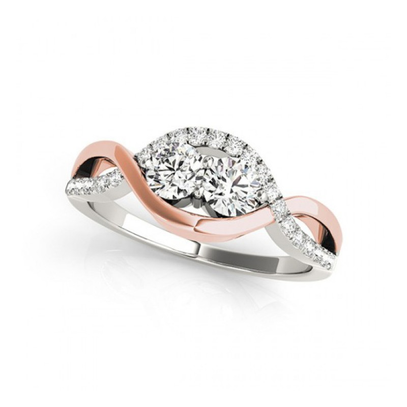 Overnight Mountings Two Stone Ring 84791-1