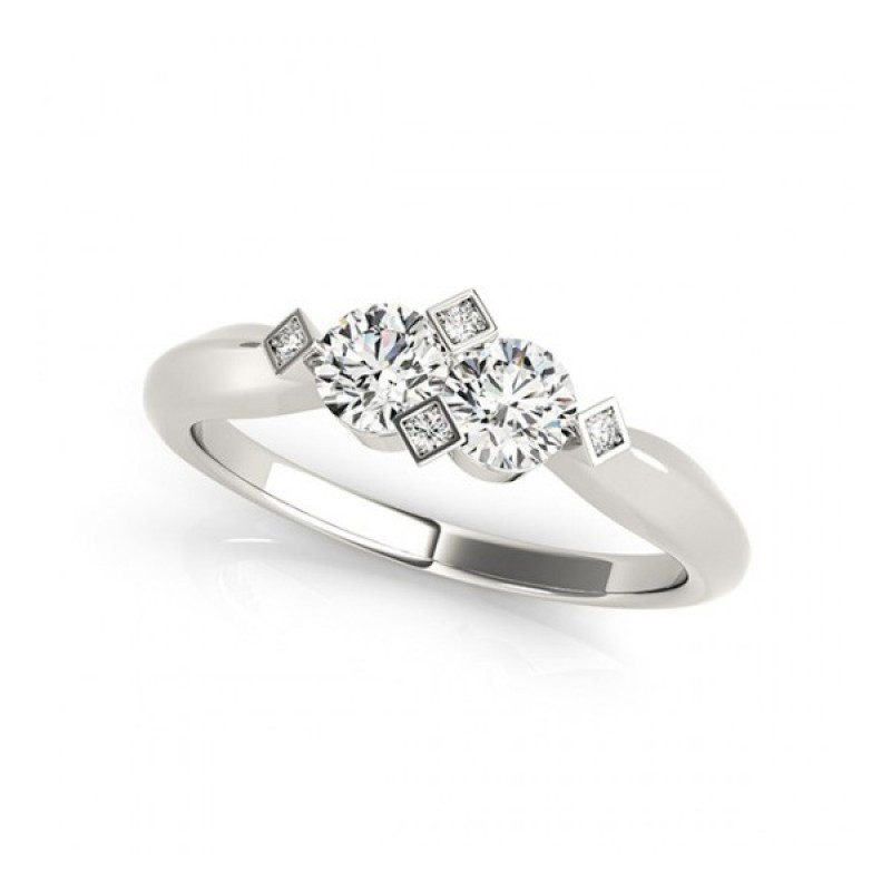 Overnight Mountings Two Stone Ring 84795-1
