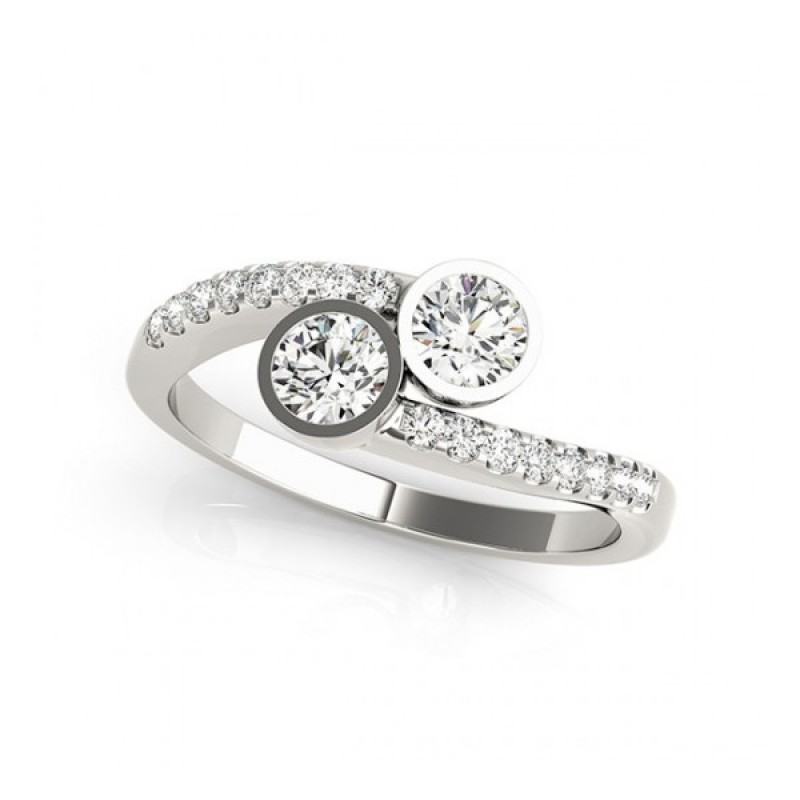 Overnight Mountings Two Stone Ring 84796-1