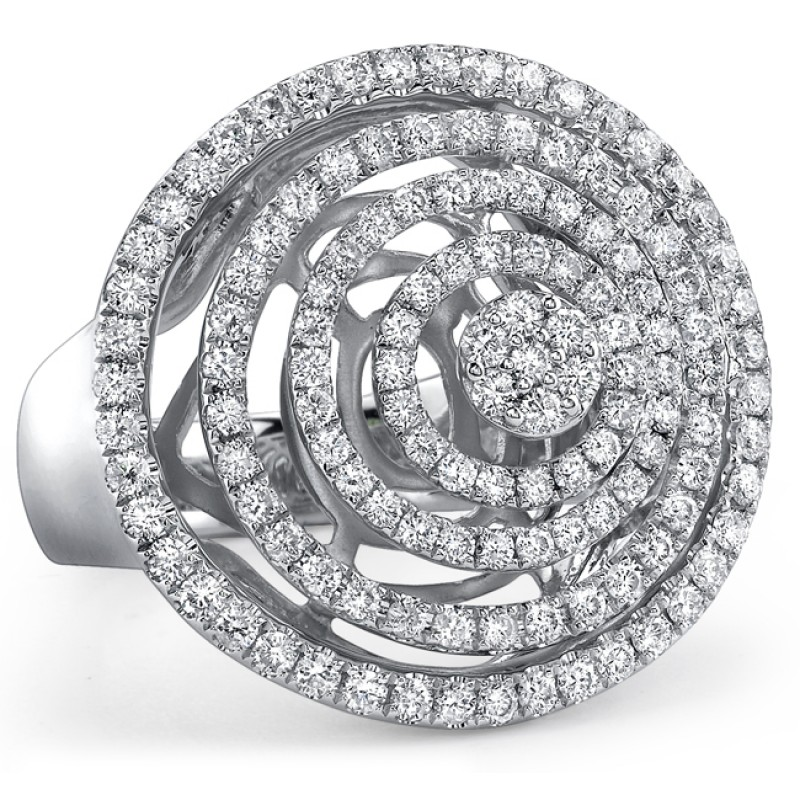 18k White Gold Fashion Diamond Circle Band NK18560-W