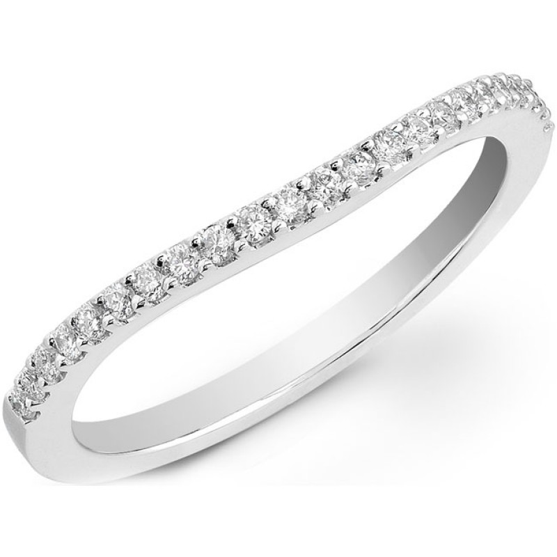 14k White Gold Prong Diamond Wedding Band NK20508WED-W