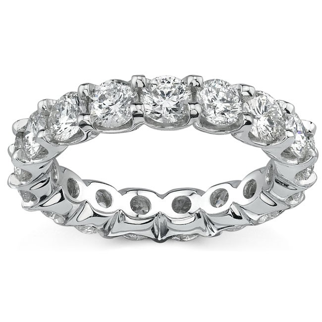 14k White Gold Prong Set White Diamond Eternity Band - 0.50ct