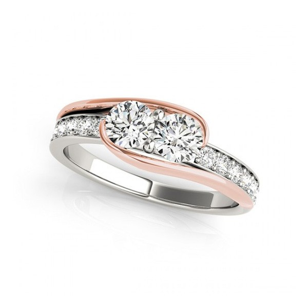 Overnight Mountings Two Stone Ring 84783-1