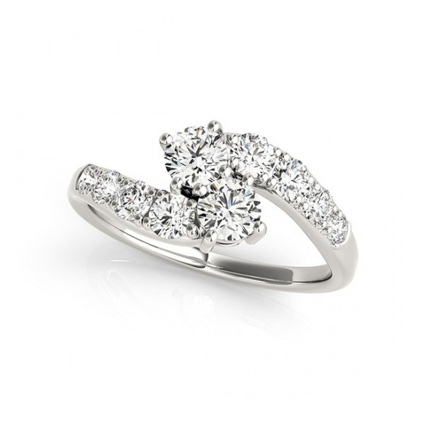 Overnight Mountings Two Stone Ring 84787-1
