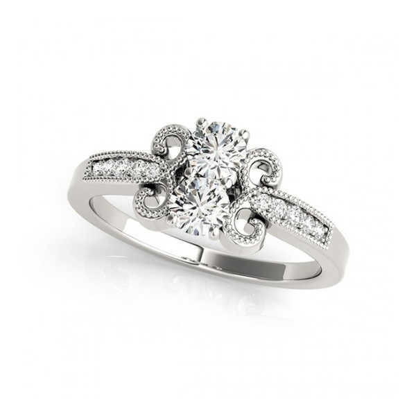 Overnight Mountings Two Stone Ring 84794-1