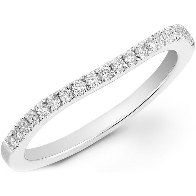 14k White Gold Prong Diamond Wedding Band NK20512WED-W
