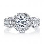 MARS 25649 Diamond Engagement Ring 0.80 Ct Rd, 0.37 Ct Bg.