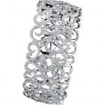 14k White Gold Pave Bezel Ladies Diamond Bangle NK18034-W
