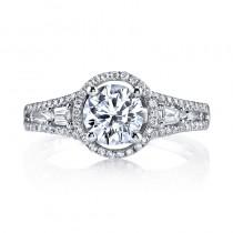 MARS 25086 Diamond Engagement Ring 0.31 Ct Rd, 0.16 Ct Bg.