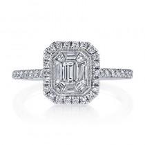 MARS 25169 Diamond Engagement Ring 0.53 Ct Rd, 0.20 Ct Em, 0.26 Ct Bg.